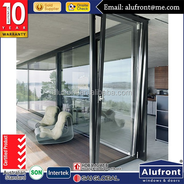 China aluminum double tempered glass doors glass office entry doors