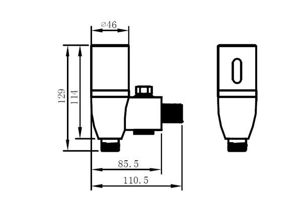 commercial touch free toilet urinal sensor flush valve