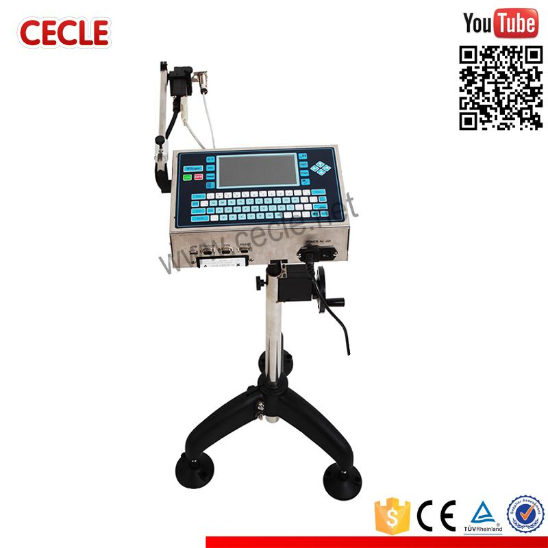 Portable barcodes and logos continuous ink jet printer