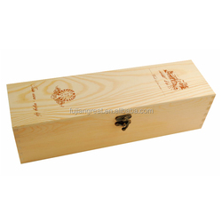 Pine Wood Gift Boxes For Wine Glasses