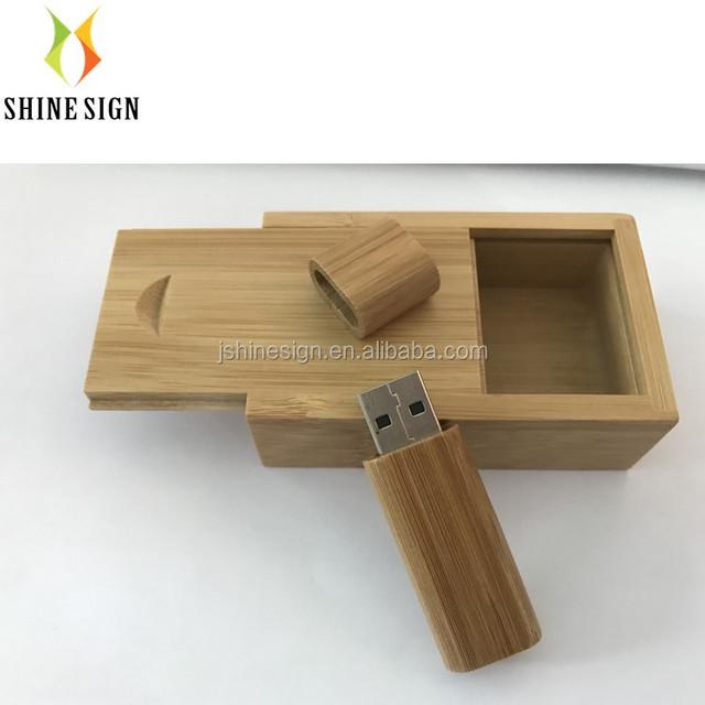 laser engraving logo bamboo usb flash drive 32g usb key