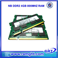 Fast delivery pc2-6400 ddr2 800mhz sdram so-dimm 200-pin accept paypal