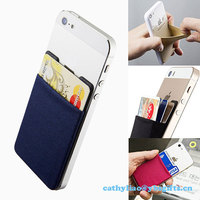 Wholesale cell phone credit card holder wallet 3m sticker card holder/business card holder