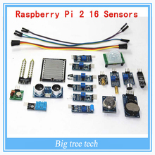 16PCS Raspberry pi 2 the sensor module package 16 kinds of sensor F222