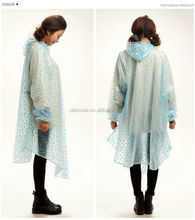 Plastic Rain Poncho/pvc Hooded Rain Cape Poncho For Adults