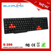 USB interface hot sale cheap computer keyboards with red keys