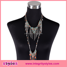 New Design Popular Fashion Long Chain Necklace Designs Bridal
