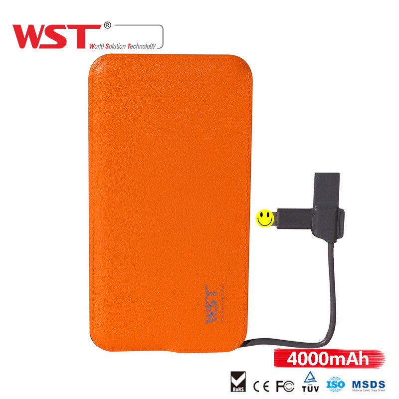 Cheap promotional give away custom logo portable cell phone charger