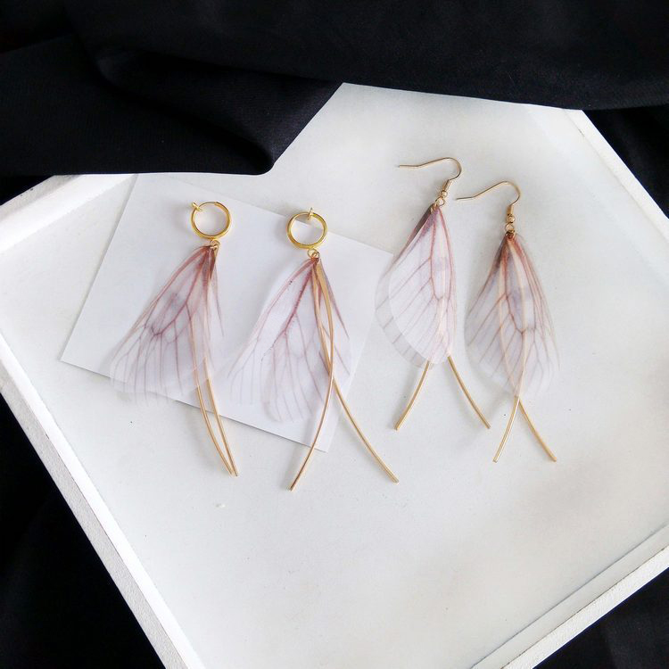 Angel Wing Tassel Earrins Women
