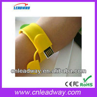 Can be any size colorful special wristband usb free preload data 64mb-64gb usb2.0