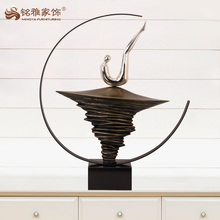Art decoration crafts abstract metal desktop statues
