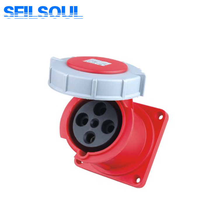 SSL-3342 IP67 4 pin 63A 380V industrial electrical socket