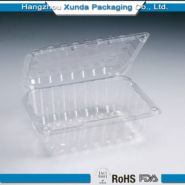 Clear plastic 500g blueberry packaging container