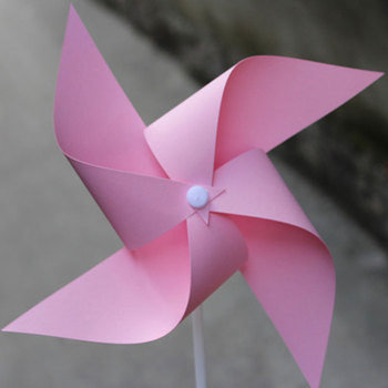 Factory Direct Sales Pink Blank Portable Garden Decoration Windmill
