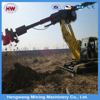 photovoltaic solar spiral pile rig/photovolataic pile driver/Mini Mobile Pile Drilling Rig