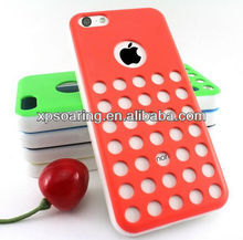 TPU+PC circle case back cover for apple iphone 5C