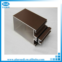 High quality silver anodized aluminum extrusion curtain wall profile