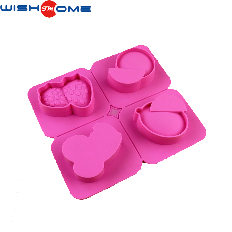 JianMei Brand 4 Different Fruit Creation FDA Ice Soap Silicone Cake Mold