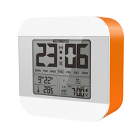 Smart Travel Beside Desk No Ticking Large Number Display LCD Digital Table Talking Weather Station Day Clock For Home Family
