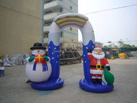 Giant Inflatable Santa claus,promotional PVC products for Christmas, decorations,lovely inflatable snow man