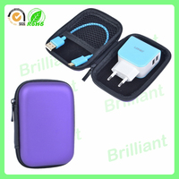 top quality hard shell pu leather battery carrying case