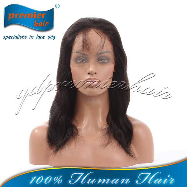 2014 Premier wigs Cheap fashionable 6-32inch china hair products factory virgin remy human hair brazilian lace front hair wig