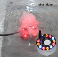 12 LED Colorful Light Ultrasonic Mist Maker Fogger for water feature