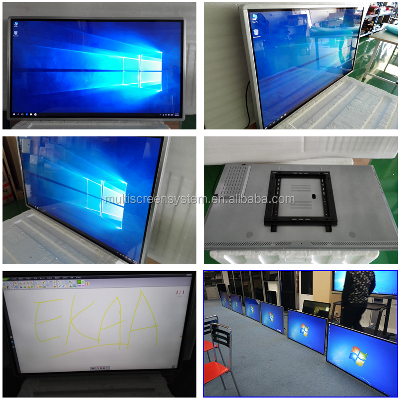 85inch Interactive IR touch screen All In one pc digital signage with wifi