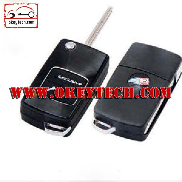 Okeytech car key Chevrolet Modified folding remote key blank for chevrolet flip key