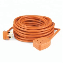1-Gang 13A Orange UK Extension AC Power Cord