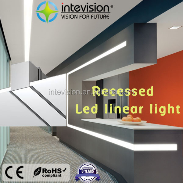 1200mm recessed suspended office linkable led linear light