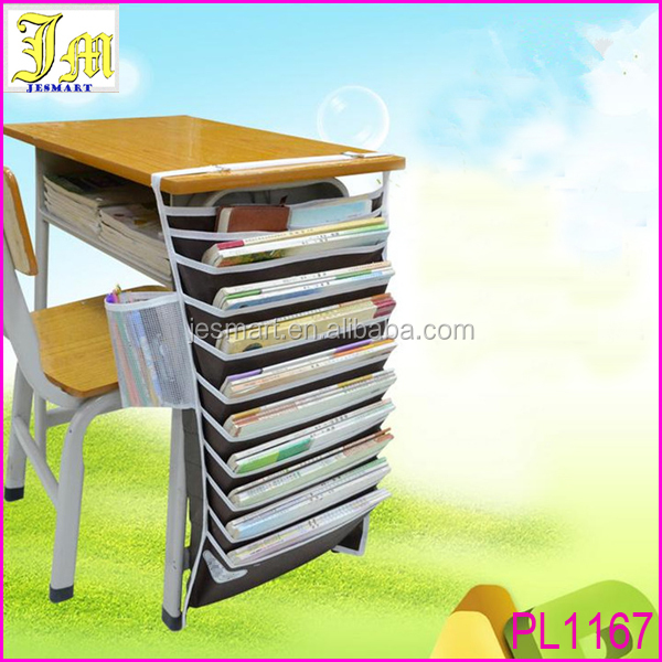 New Adjustable Desk Book Organizer Bag For Desk Useful Books Storage Bag Efficient School Bookend Rack