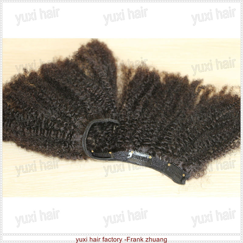 Factory wholesale kinky curly hair weaves clip in extensions