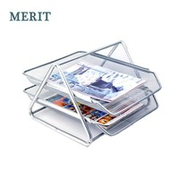 Metal Mess 2 Tiers Document Tray, File Tray