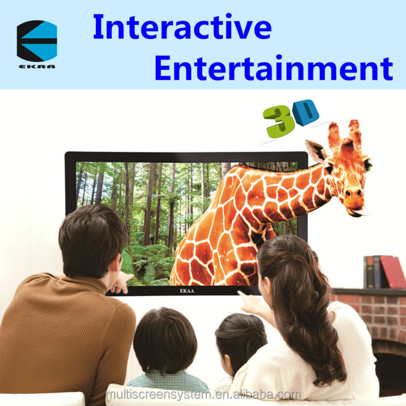 55 inch floor standing Led touch screen pc tv all in one for video conference & education