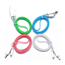 Wholesale micro USB led light fast phone charger cable phone accessories for mobile phone model