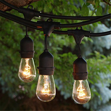 Popular Convenient connection Good quality LED festoon lighting vintage patio globe 48ft outdoor string light with 24 x e26