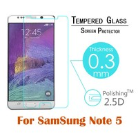 9H hardness tempered glass screen protector for samsung galaxy note5