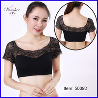 sexy seamless lace crop tank top for women