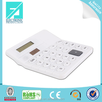 Fupu white plastic pocket calculator mini electronic calculator