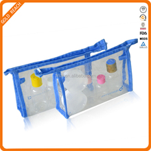 Clear PVC Zipper Bag, Transparant PVC Cosmetic Bag, Cosmetic Pouch Bag
