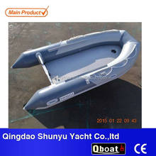 CE11ft korea pvc fabric inflatable boat with air mat floor
