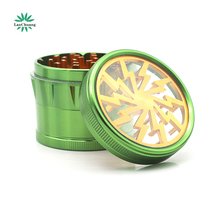 Free Sample Lanchuang 63mm Aluminium Alloy 4 Parts 4 Colors Good Quality Custom Logo Smoking Herb Grinder Spice Weed Wholesale