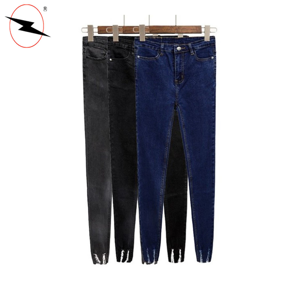 Custom all branded name denim jeans wholesale for women