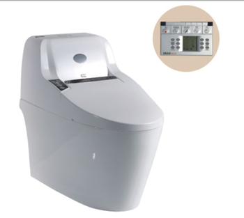 745W Auto Washing Cleaning Function Electronic Smart Intelligent toilet with Controller Floor Mounted