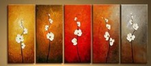 famous flower painting 30*60 cm group oil painting flower