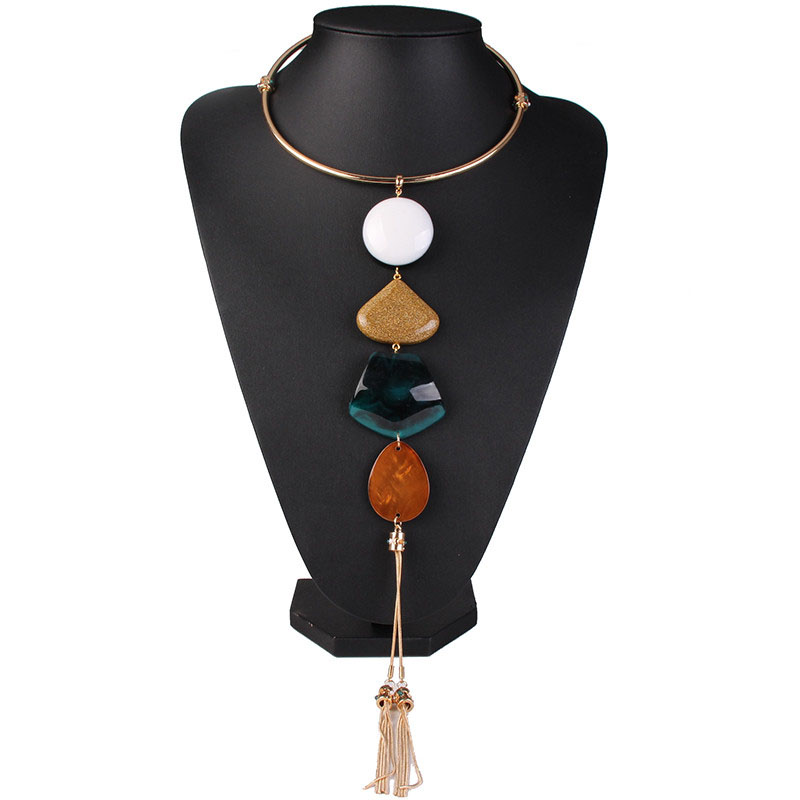 Latest New Design Fashionable Long Tassel Necklace For Women N5502