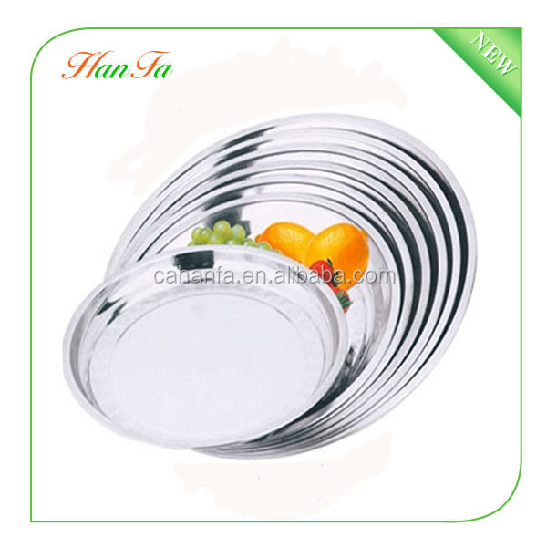 Wholesale Hot Sale Chinese Supplier Stainless Steel Big Dish, Round Plate