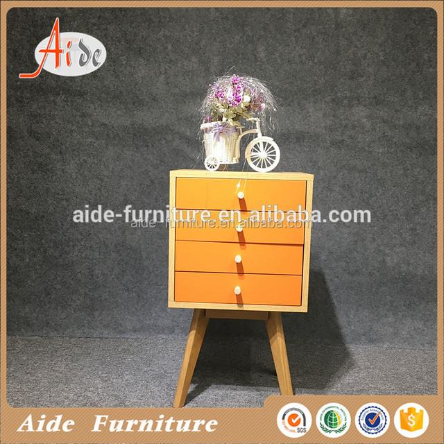 Modern corner mini wood chest of drawers design