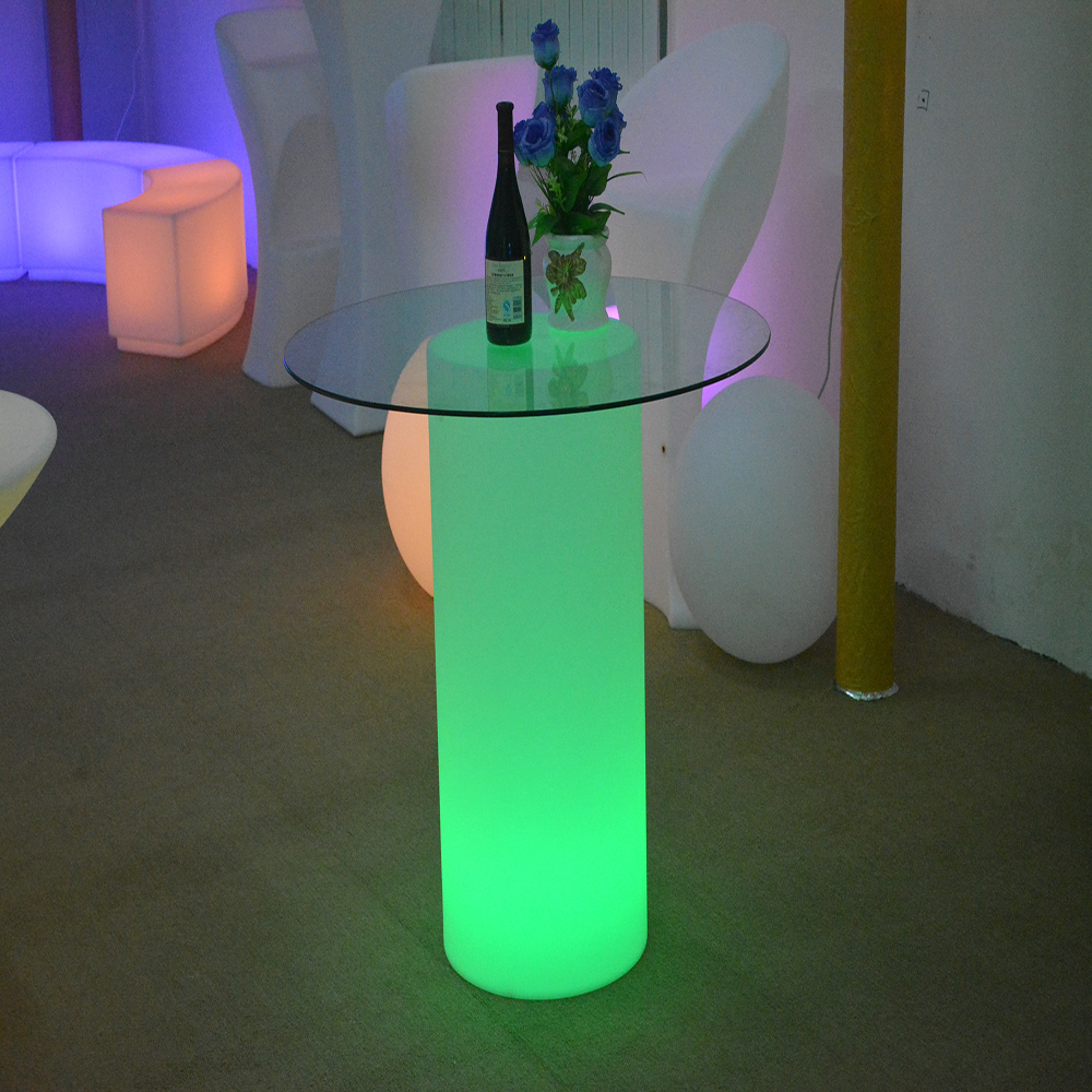 Club Led Bar Counter Illuminated Furniture Restaurant and Hotel cylinder Bar Counter Design